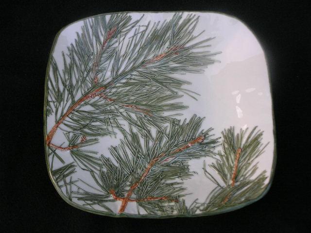 Pine Cone Bowl Pine Porcelain Serving Bowl