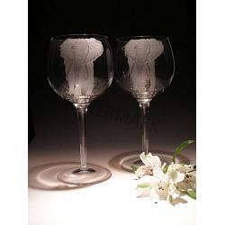Crystal Elephant Wine Glasses 1