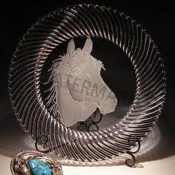 Crystal Horse Head Charger Plate 1