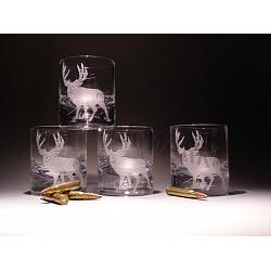 Crystal Mule Deer Rocks Glasses 1