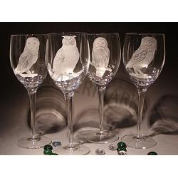 Crystal Owl Wine Glasses 1