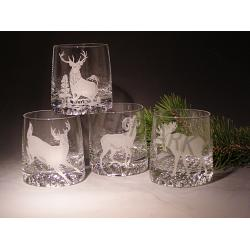 Elegant Crystal Rocks Glasses Big Game Set of 4 1