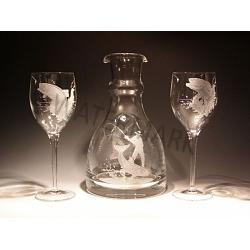 Crystal Wine Carafe Fly Fishing Set 1