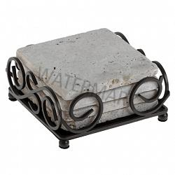 Brown Wrought Iron Square Coaster Holder 1