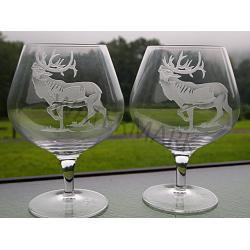 Crystal Elk Brandy Glasses-set of 2 1