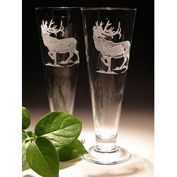 Elk Crystal Pilsner Glasses, Set of 2 1