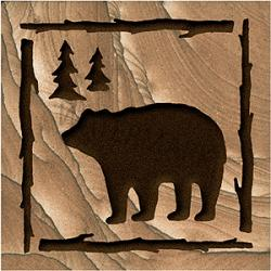 Etched Bear Coasters 1