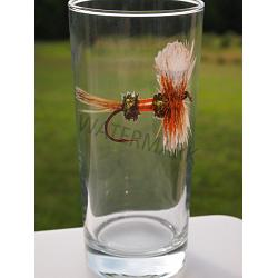 Royal Wulff Fly Round Beverage Glasses 1