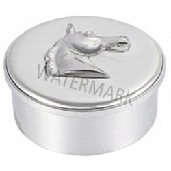Horse Head Pewter Box 1