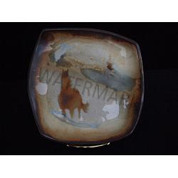 Porcelain Pottery Horse Plate 1
