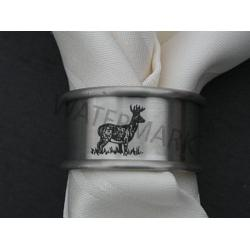 Buck Lasered Napkin Rings-Set of 3 1