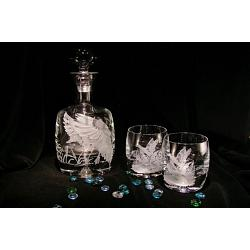 Landing Ducks Crystal Decanter 1