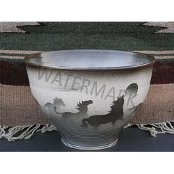 Wilderness Images Large Bowl- Horse Imagery 1