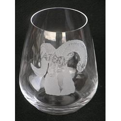 Stemless Wine Crystal Dall Sheep Glass 1