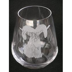 Stemless Crystal Desert Bighorn Wine Glass 1