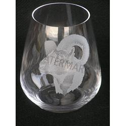 Stemless Crystal Stone Sheep Wine Glass 1