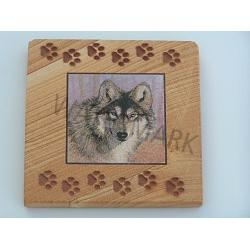Wolf Coasters w/paws-Set of 4 1