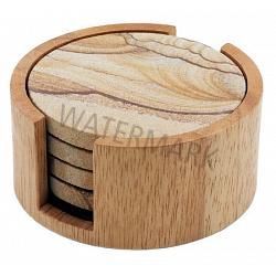 Circular Natural Coaster Holder 1