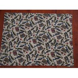 Tackle and Fish Placemats- Set of 2 1