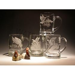 Waterfowl Crystal Beer Mug Set 1