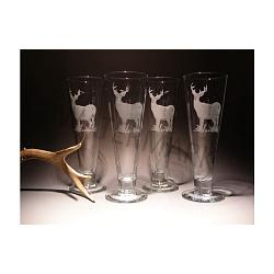 Crystal Etched Whitetail Pilsner-16 oz. 1