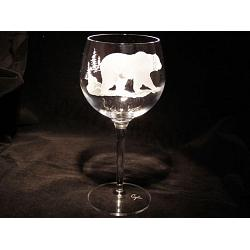 Grizzly Crystal Wine Goblets 1