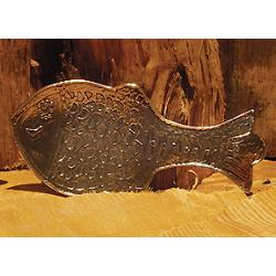 Large Pewter Fish Spoon Rest 1
