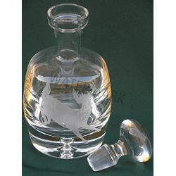Whitetail Deer Crystal Decanter 1