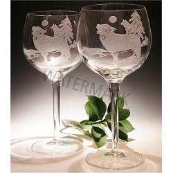 Crystal Wolf Wine Glasses 1